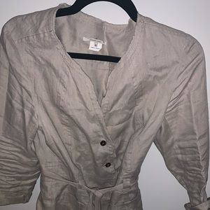 Gerard Darrel linen jacket with belt